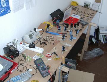 8 Arbeiten an den Robotern