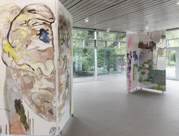 1 Wolfgang Betke: se faire voyant - Ausstellungsansicht