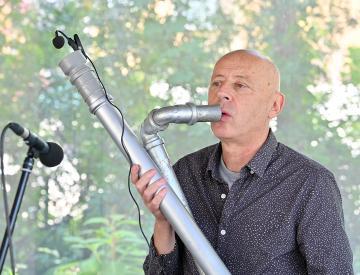 3 Werner Durand während der Performance am 3. Tag im BKV