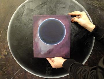 2 Matthias Esch: Studie zu Kreis (Mond) vor einem weiteren Werk