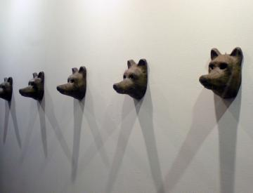 Wolf masks for Perestroika Songspiel, 2011