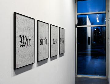 13 Henrike Naumann, Four Words, 2015, Installationsansicht