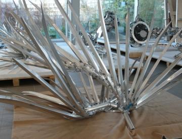 24 Ausstellungsaufbau von Peter Rogiers, The Garden