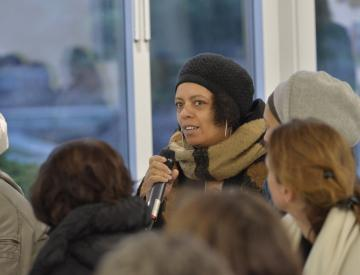 3 Patricia Vester beim Kuratorengespräch im BKV