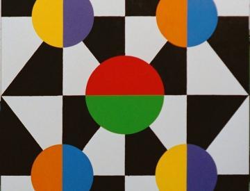 6 o.T., 160x130cm, Acryl, Lack auf Lw., 1987