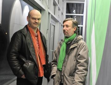 10 Eberhard Havekost (li.) und Frank Nitsche (re.)