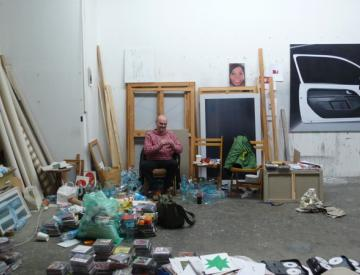 15 Eberhard Havekost in seinem Atelier