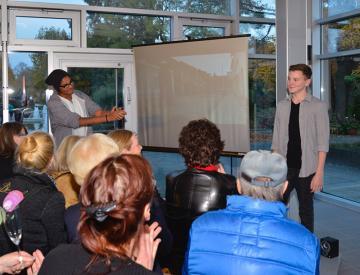 9 Richard Spitzner (15) erhält Standing Ovations für seinen Projektbeitrag