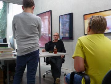 Die Filmkids interviewen Alexander Koch von der Galerie KOW