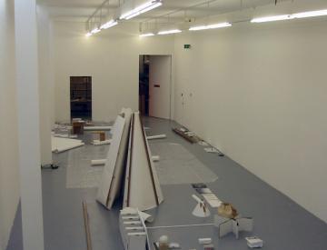 15 Aufbau der Ausstellung