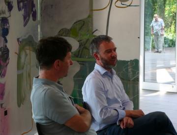 2 Wolfgang Betke und Gerrit Gohlke im Gespräch