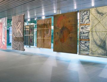 1 Manuel Kirsch: feste - Blick in die Ausstellung