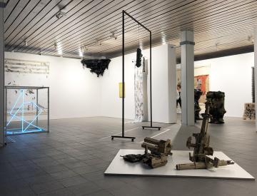 1 Blick in die Ausstellung im Brandenburgischen Kunstverein